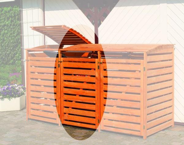 Promadino Erweiterungsbox für Mülltonnenbox Vario III, honigbraun