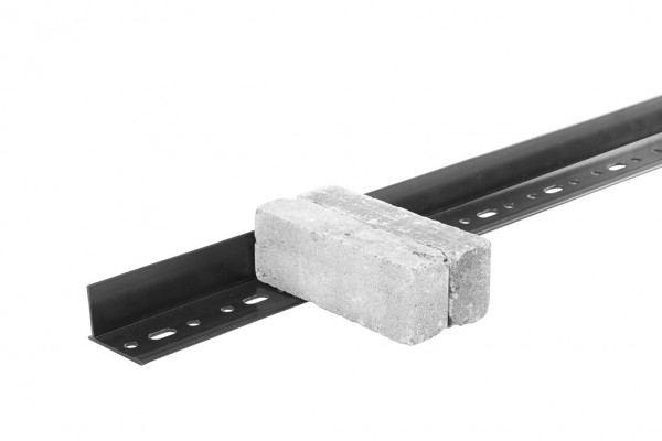12er Set Orlando bric-edge PVC Randbegrenzung, starr, schwarz, Stärke 3 mm, á L 229 x H 5,1 cm