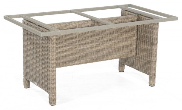 Sonnenpartner Tisch Base-Polyrattan, Aluminium / Kunststoffgeflecht rustic-stream, 160 x 90 cm