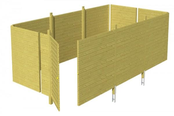 Skan Holz Abstellraum C6, impr. Nadelholz, Profilschalung, 573 x 317 cm