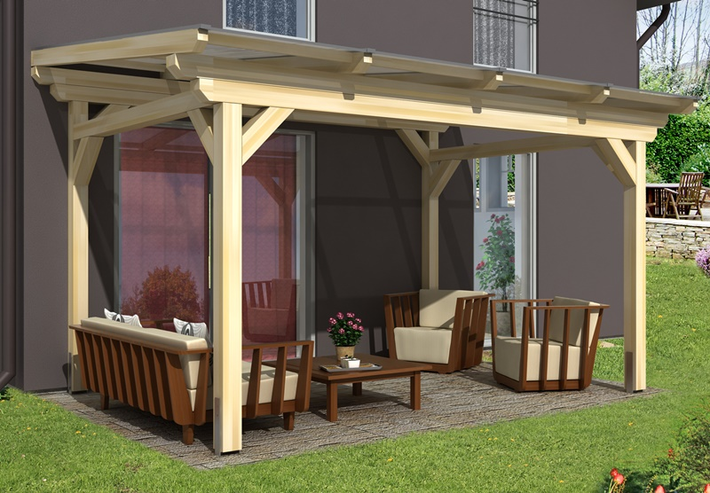 skan holz terrassen berdachung sanremo 434 x 400 cm freistehend leimholz doppelstegplatten. Black Bedroom Furniture Sets. Home Design Ideas
