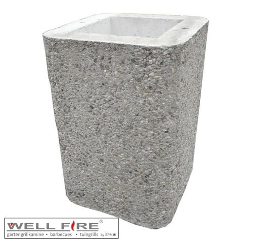 Wellfire Kaminverlängerung / Haubenverlängerung Nova braun, 40 cm