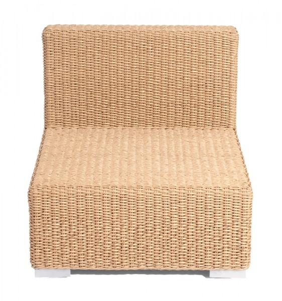 Sonnenpartner Lounge-Mittelmodul Residence, Aluminium / Kunststoffrundgeflecht Hyazinthoptik