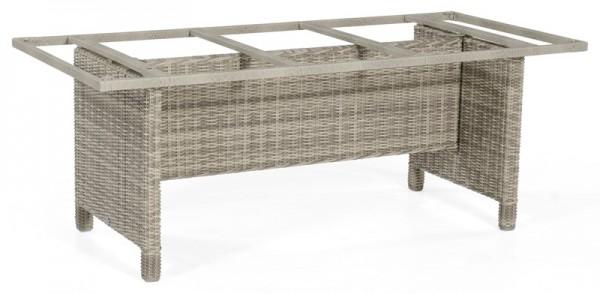 Sonnenpartner Tisch Base-Polyrattan, Aluminium / Kunststoffgeflecht white-coral, 200 x 100 cm