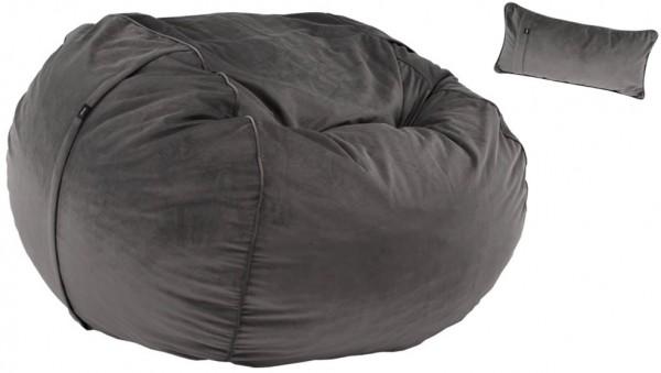 vetsak FS1000 Sitzsack large Velvet, Ø 140 cm inkl. Kissen