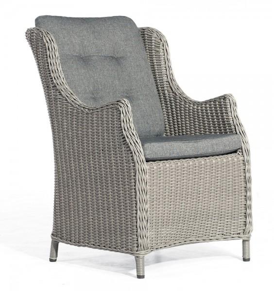 Sonnenpartner Sessel Salinas, Kunststoffgeflecht, rustic-vintage inkl. Sitz- und Rückenkissen