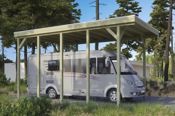 Skan Holz Caravan Carport Friesland, Nadelholz, 397 x 708 cm, imprägniert