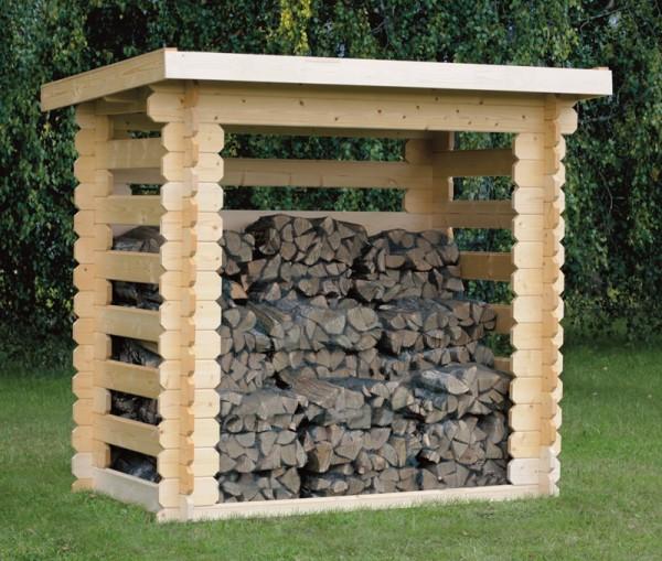 Skan Holz Holzunterstand Sven 2, 200 x 110 cm, Nadelholz unbehandelt