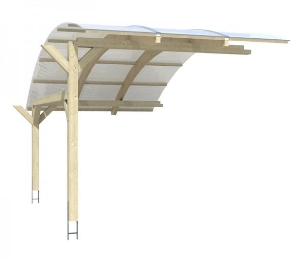 Stellplatzerweiterung für Skan Holz Runddach-Carport Schwaben, Leimholz, 299 x 630 cm