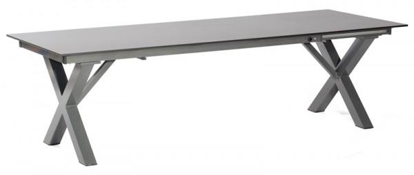 Sonnenpartner Ausziehtisch Base-Spectra, Aluminium anthrazit, 200/260 x 100 cm