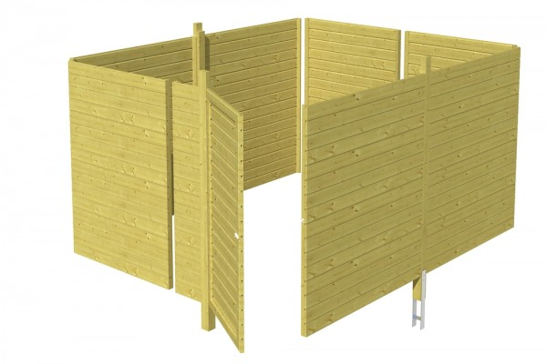 Skan Holz Abstellraum C4, impr. Nadelholz, Profilschalung, 378 x 317 cm