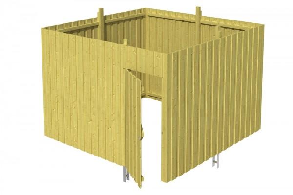 Skan Holz Abstellraum A2, impr. Nadelholz, Deckelschalung, 314 x 317 cm