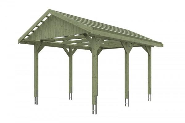 Skan Holz Satteldach-Carport Wallgau 380 x 500 cm, imprägniert