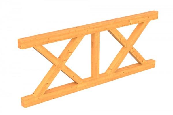 Skan Holz Brüstung 220 x 84 cm, Andreaskreuz, für Douglasien-Terrassenüberdachungen