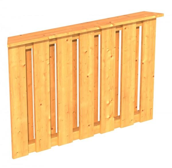 Skan Holz Brüstung 120 x 84 cm, Deckelschalung, für Pavillon Colmar Größe 1