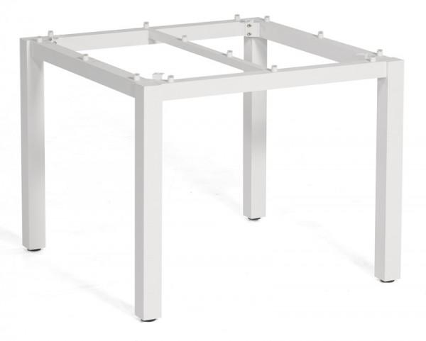 Sonnenpartner Tisch Base, Aluminium weiß, 90 x 90 cm