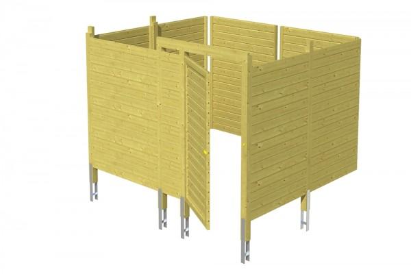 Skan Holz Abstellraum C8, impr. Nadelholz, Profilschalung, 275 x 317 cm