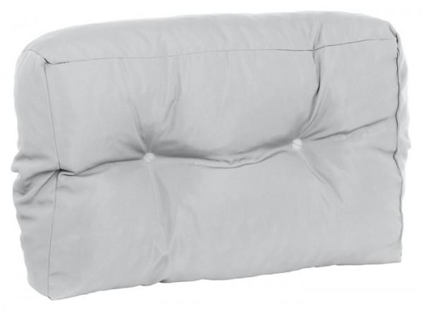 Doppler Paletten-Rückenkissen, schmal, für Ecklösungen, hellgrau