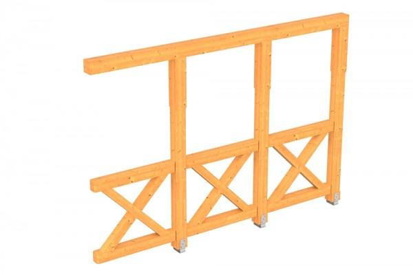 Skan Holz Seitenwand 305 x 210 cm, Andreaskreuz, für Douglasien-Terrassenüberdachungen
