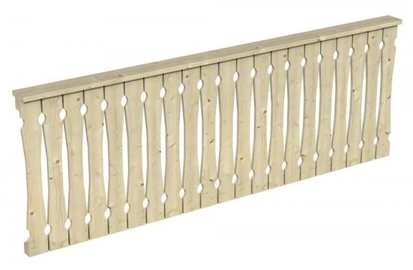 Skan Holz Brüstung 270 x 96 cm, Balkonschalung, für Pavillons Cannes und Orleans Größe 1