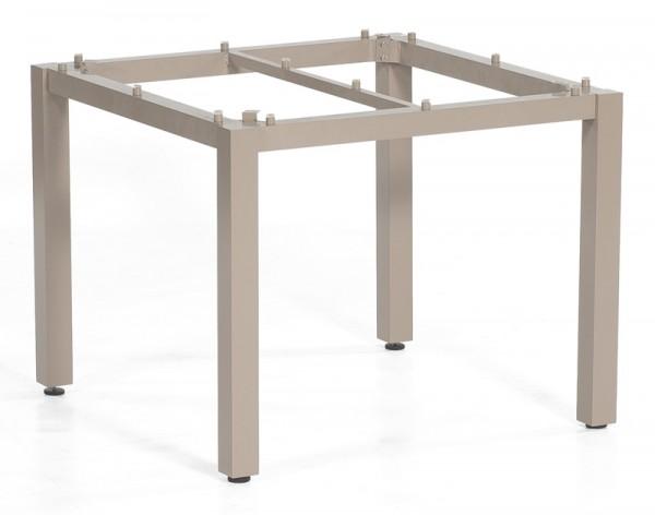 Sonnenpartner Tisch Base, Aluminium champagner, 90 x 90 cm