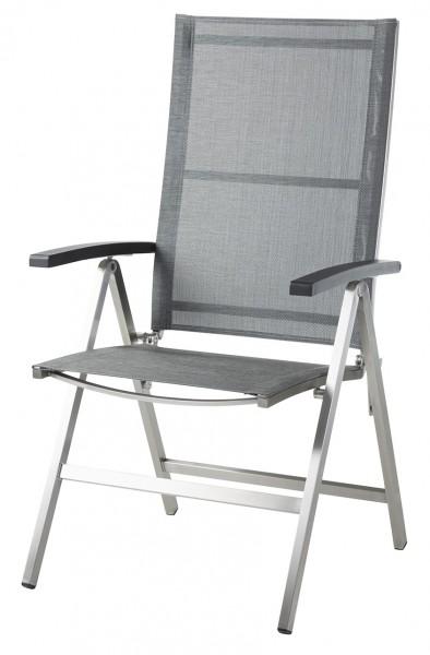 Diamond Garden Hochlehner Monaco, Edelstahl/DiGaLan®-Textilene, schwarz/silber