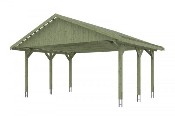 Skan Holz Satteldach-Carport Wallgau 620 x 500 cm, imprägniert