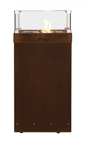 Firestar Gaskamin Ambiente Medium, Corten-Stahl (Edelrost)