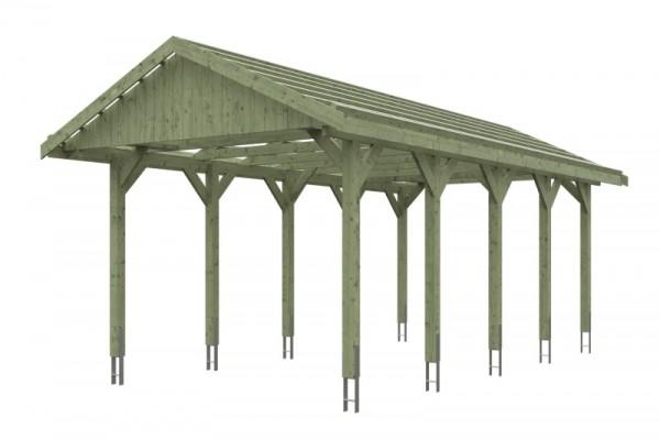 Skan Holz Satteldach-Carport Wallgau 380 x 750 cm, imprägniert