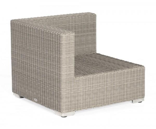 Sonnenpartner Lounge-Eckmodul Residence, Aluminium / Kunststoffgeflecht stone-grey
