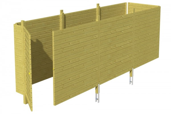 Skan Holz Abstellraum C5, impr. Nadelholz, Profilschalung, 573 x 164 cm