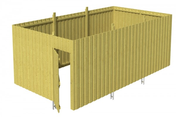 Skan Holz Abstellraum A6, impr. Nadelholz, Deckelschalung, 573 x 317 cm