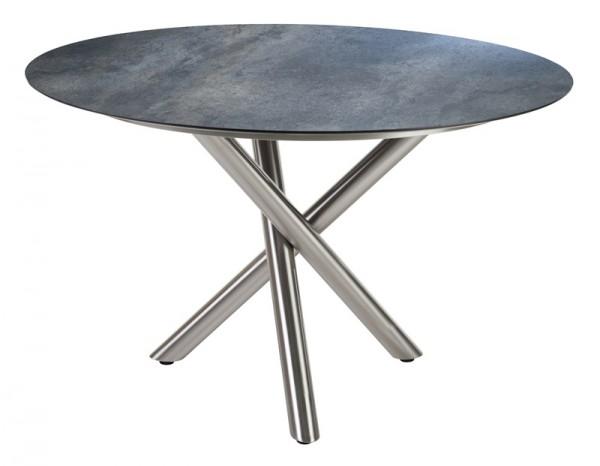 Diamond Garden Tisch San Marino rund, Edelstahl/Anthrazit Titan, Ø 120 cm
