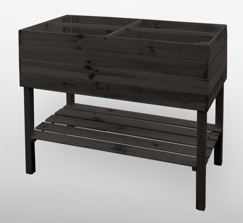 promadino hochbeet auf beinen anthrazit hochbeete kr uterbeete pflanzzeit holz und. Black Bedroom Furniture Sets. Home Design Ideas