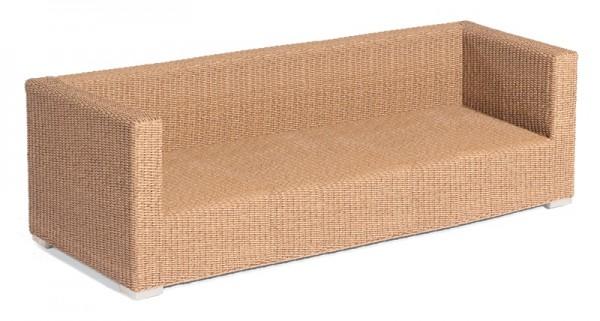 Sonnenpartner Lounge-Sofa Residence, 3-Sitzer, Aluminium / Kunststoffrundgeflecht Hyazinthoptik