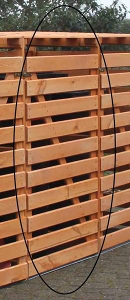 Promadino Erweiterungsbox für Mülltonnenbox Vario V, honigbraun