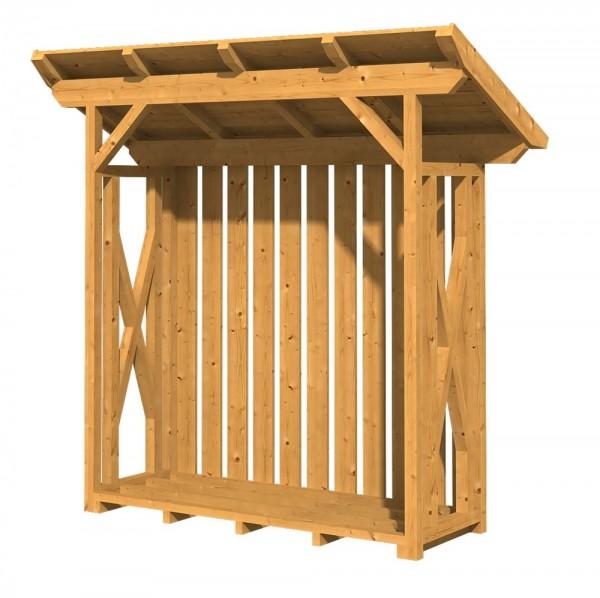 Skan Holz Holzunterstand Lars 1, 240 x 102 cm, Douglasie