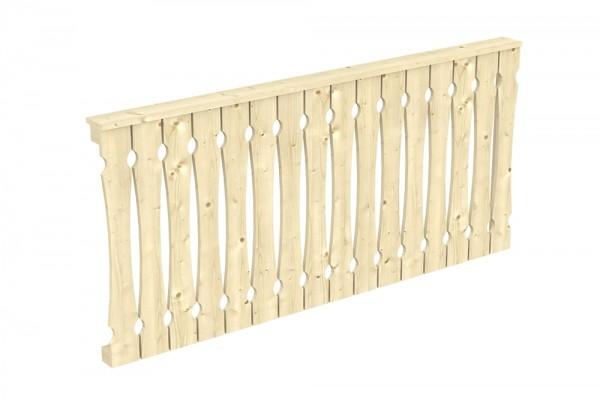 Skan Holz Seitenwand 205 x 96 cm, Balkonschalung, für Leimholz-Terrassenüberdachungen