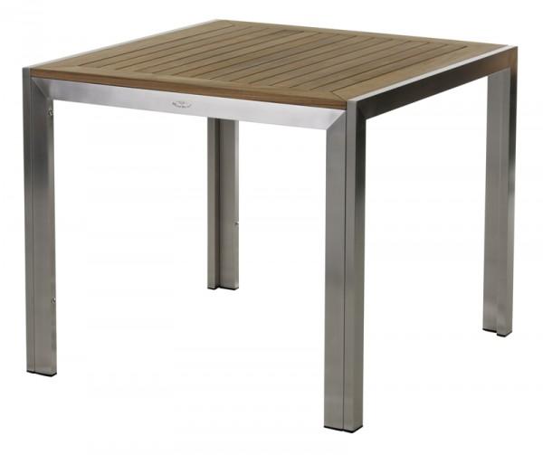 Diamond Garden Tisch Siena, Edelstahl/Premium Teak, 90 x 90 cm