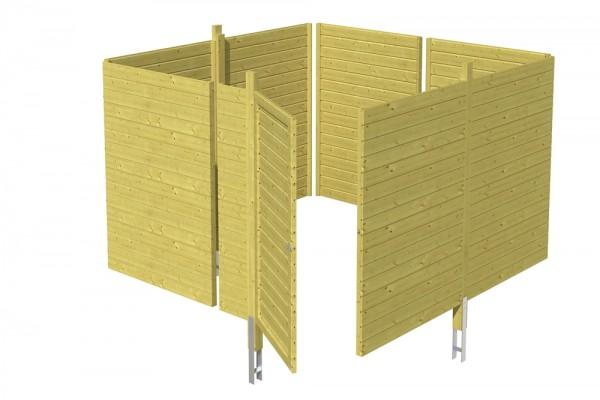 Skan Holz Abstellraum C2, impr. Nadelholz, Profilschalung, 314 x 317 cm