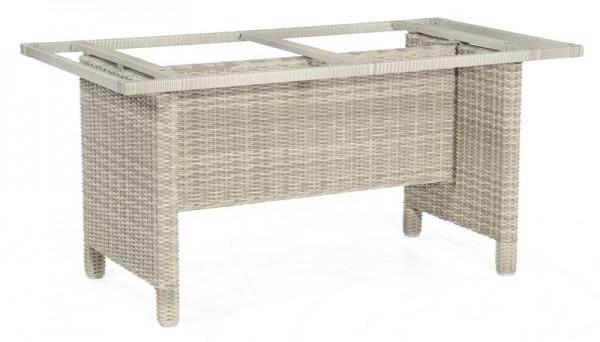 Sonnenpartner Tisch Base-Polyrattan, Aluminium / Kunststoffgeflecht white-coral, 160 x 90 cm