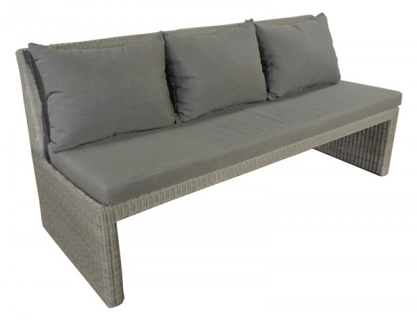 Sonnenpartner 3-Sitzer Bank Savannah, Kunststoffrundgeflecht stone-grey, inkl. Kissen