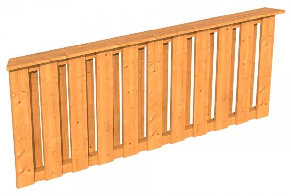 Skan Holz Brüstung 180 x 84 cm, Deckelschalung, für Pavillon Lyon Größe 3
