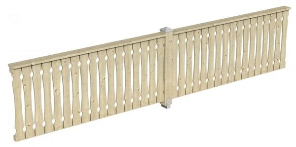 Skan Holz Brüstung 465 x 96 cm, Balkonschalung, für Pavillons Cannes und Orleans Größe 4