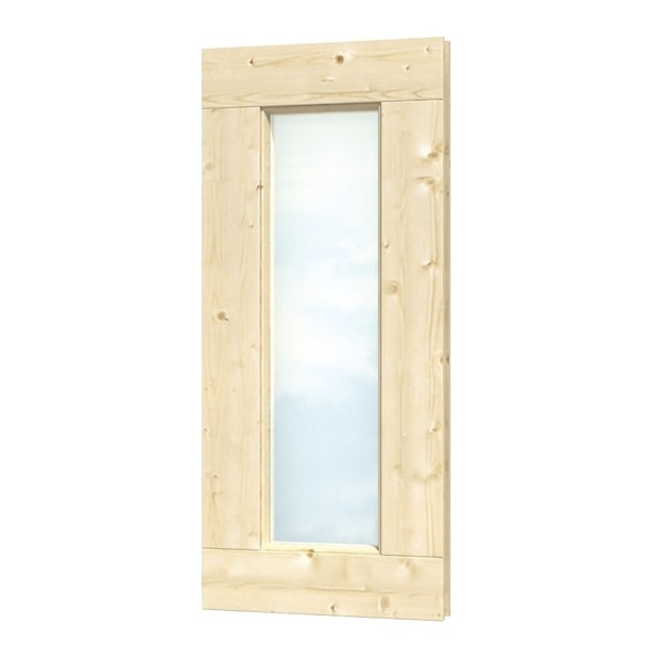 Skan Holz Fensterelement rechteckig 40 x 93 cm