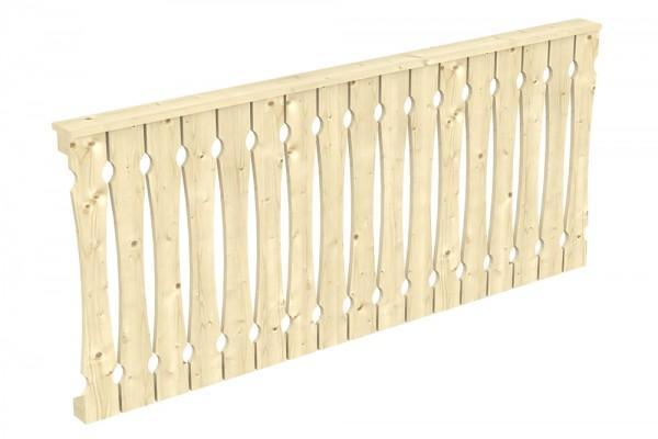 Skan Holz Brüstung 220 x 96 cm, Balkonschalung, für Leimholz-Terrassenüberdachungen