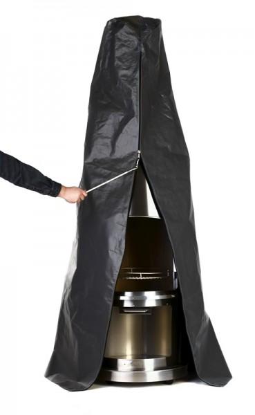 Firestar Schutzhülle für Grill- / Gartenkamin DN 700 / Swing / Swing Glas, Polyethylen, grau