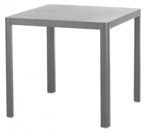 Diamond Garden Tisch Kingston, Aluminium grau, 80 x 80 cm