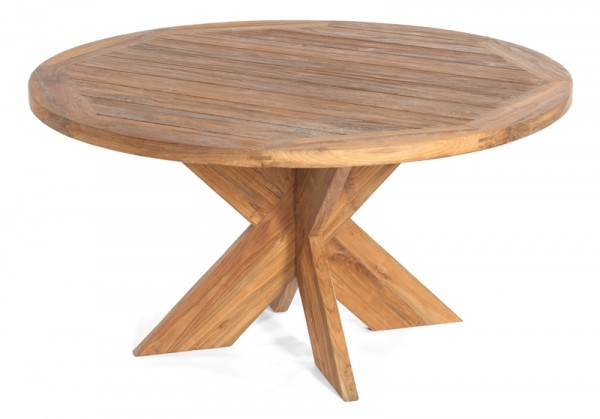 Sonnenpartner Tisch Quantum, Old Teak, Ø 150 cm