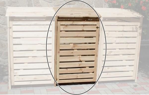 Promadino Erweiterungsbox für Mülltonnenbox Vario III, natur